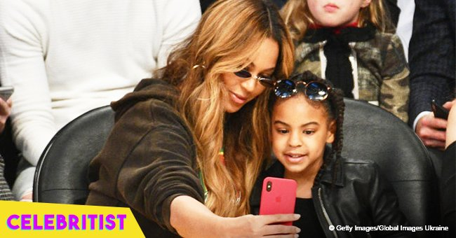 Blue Ivy rocks white tutu and sneakers in recent pic with grandmother Tina Lawson